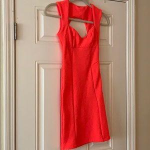 Topshop hot pink bodycon dress